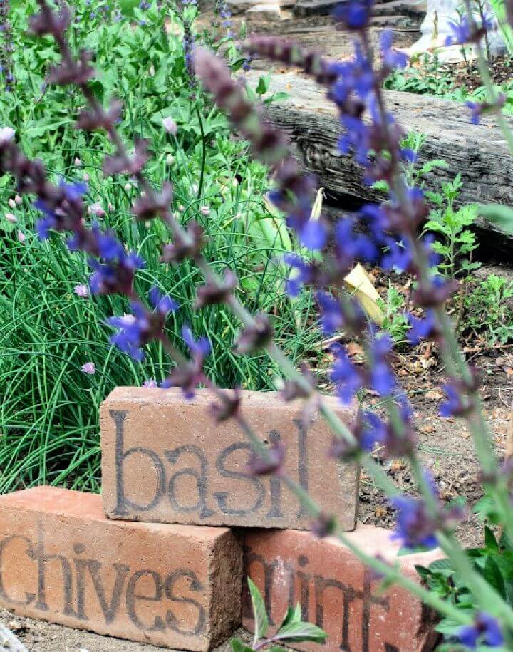 How To Make Your Own Brick Herb Markers