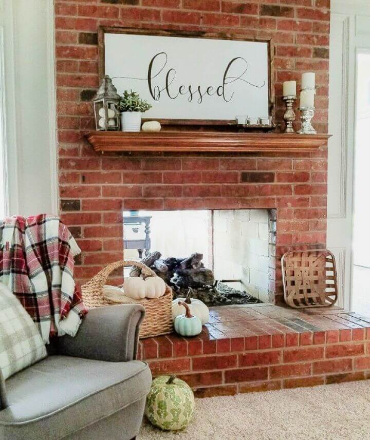 How to Chalk Paint to Update a Brick Fireplace