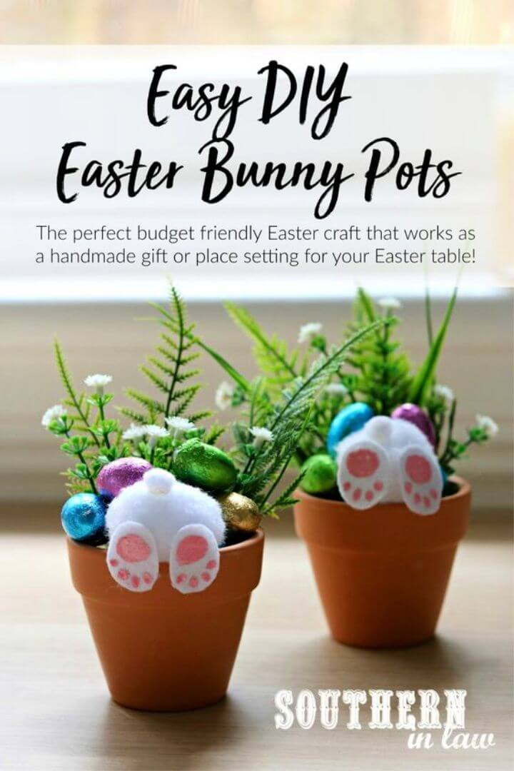 How to Make Your Own Curious Easter Bunny Pots An Easy DIY Easter Craft