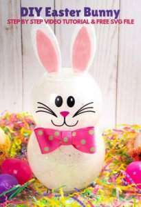 How to Make a Bunny Out of Glitter and Dollar Store Supplies
