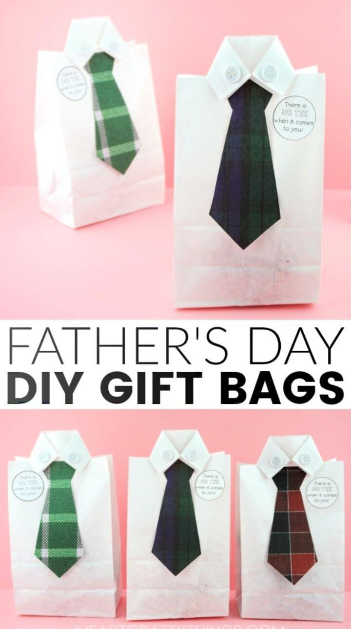 How to Make a DIY Fathers Day Gift Bag
