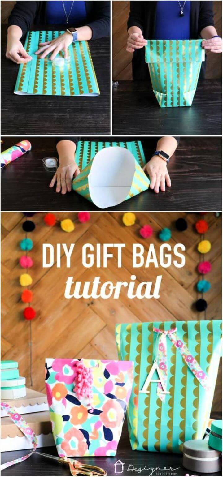 How to Make a Gift Bag from Wrapping Paper 1