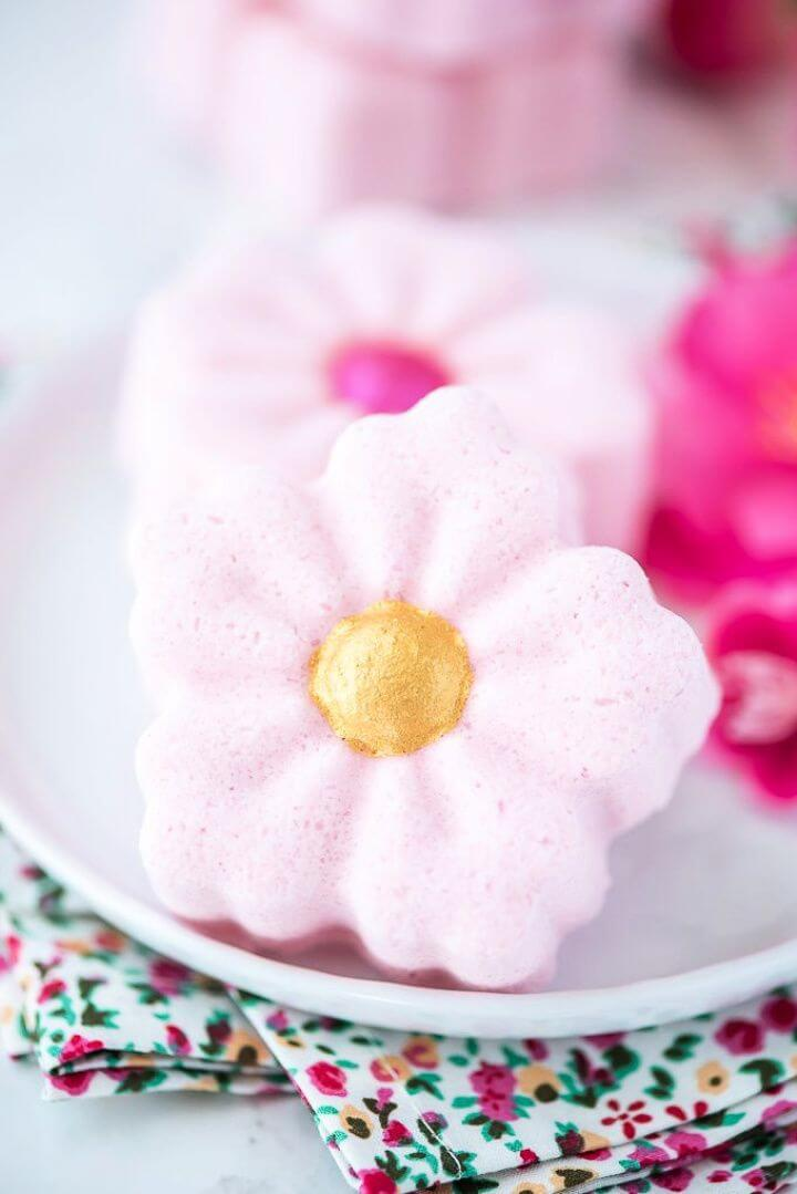 Make A DIY Cherry Blossom Bath Bombs