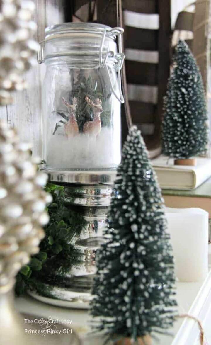 Make A DIY Mini Glass Jar Snow Globe