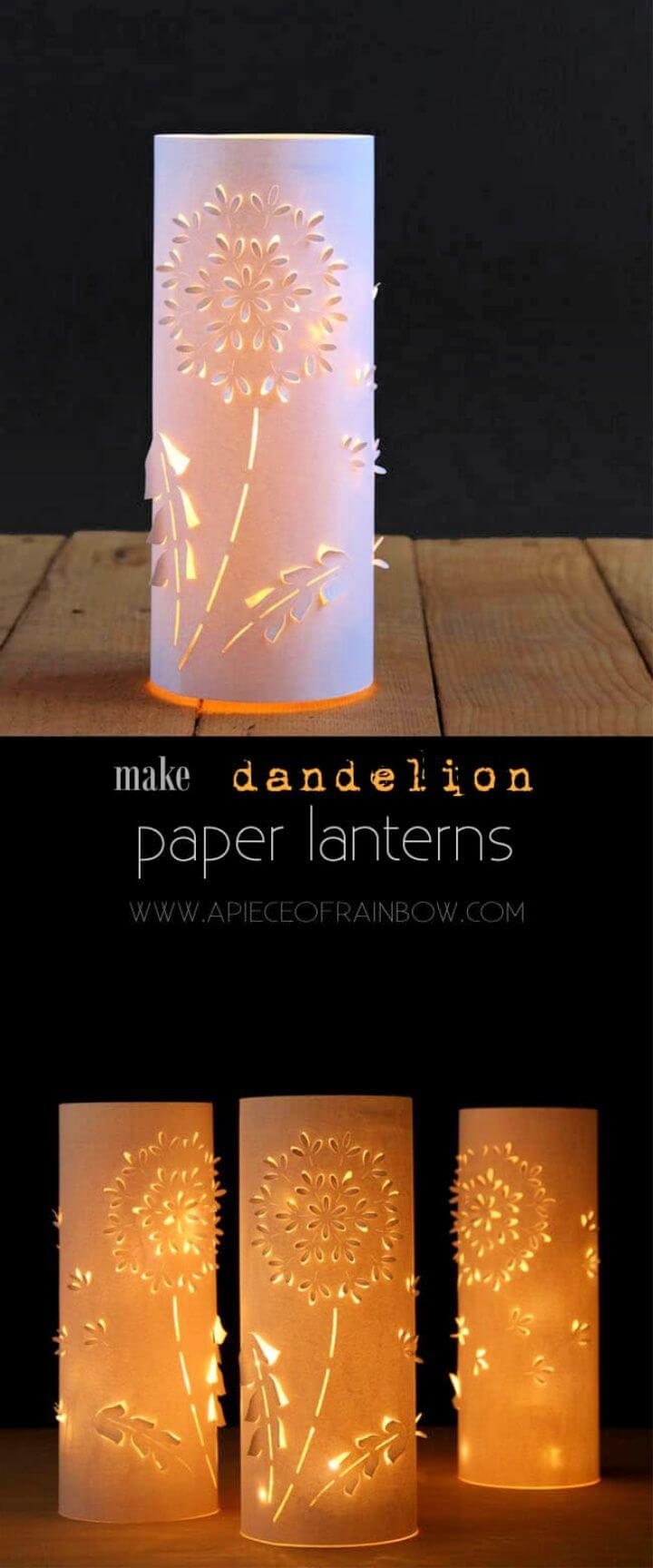 Make Paper Lanterns Inspired by Dandelions