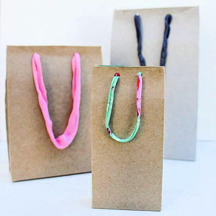 Make This Handmade Gift Bag Using a Cardboard Box