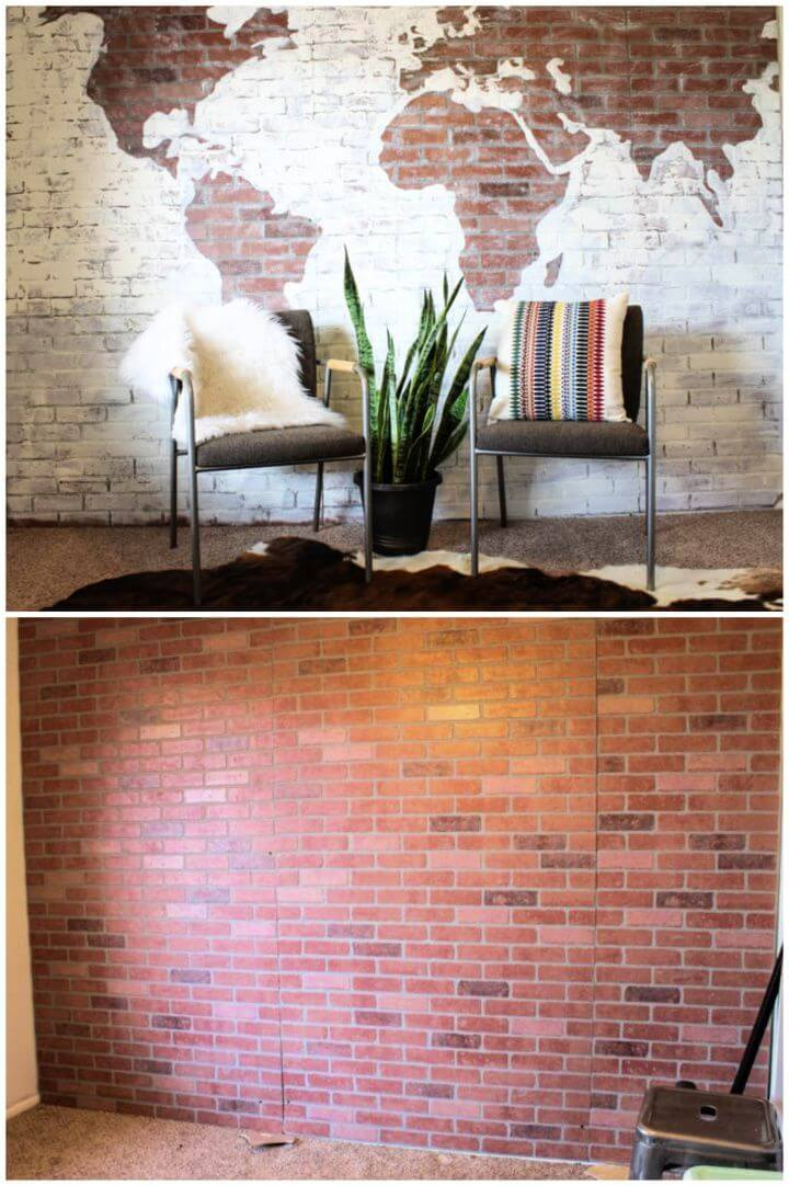Make Your Own DIY Faux Brick Wall