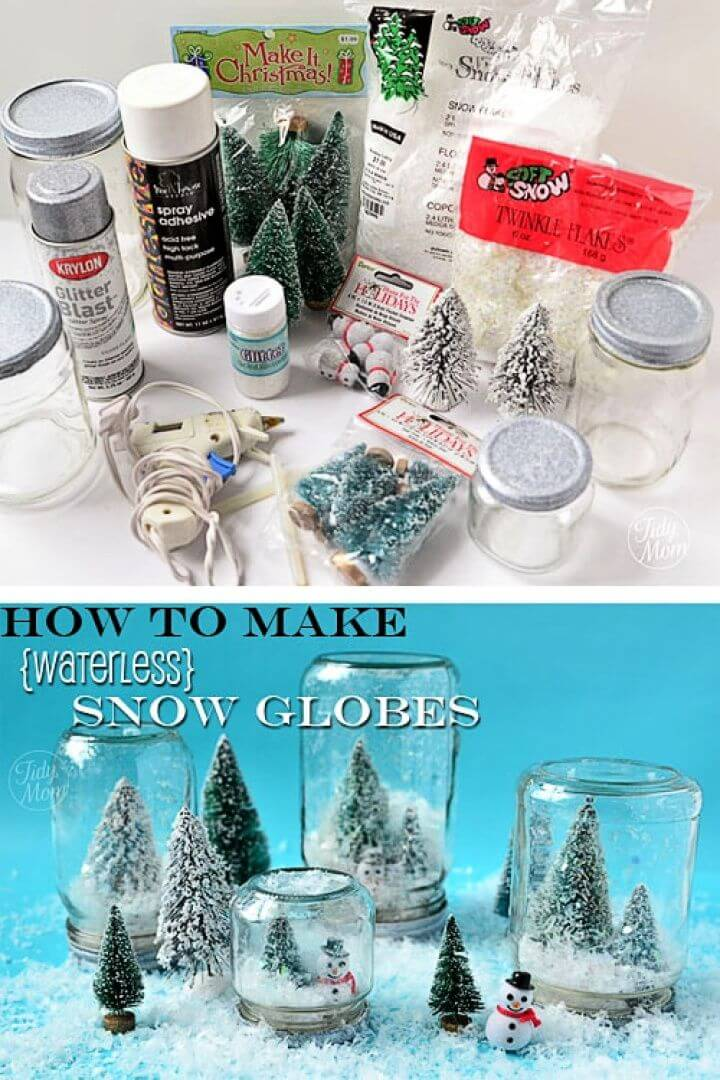 Make Your Own Waterless Snow Globes