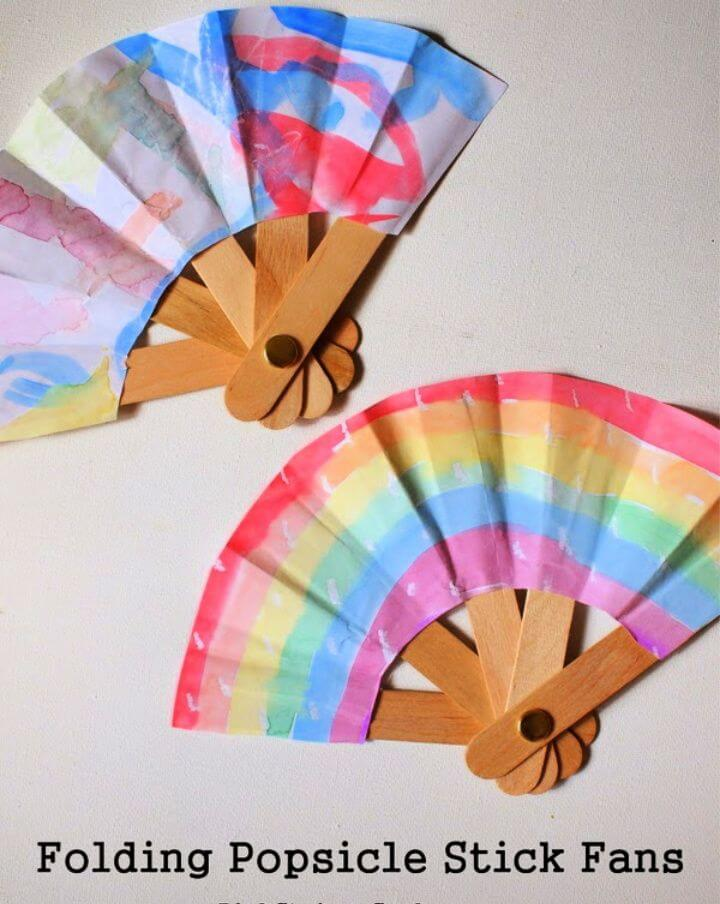 Make a Folding Popsicle Stick Fan