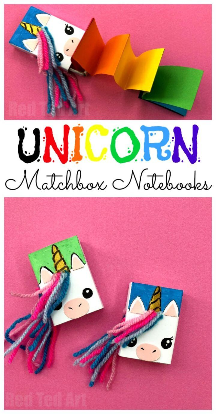 Matchbox Unicorn Notebook