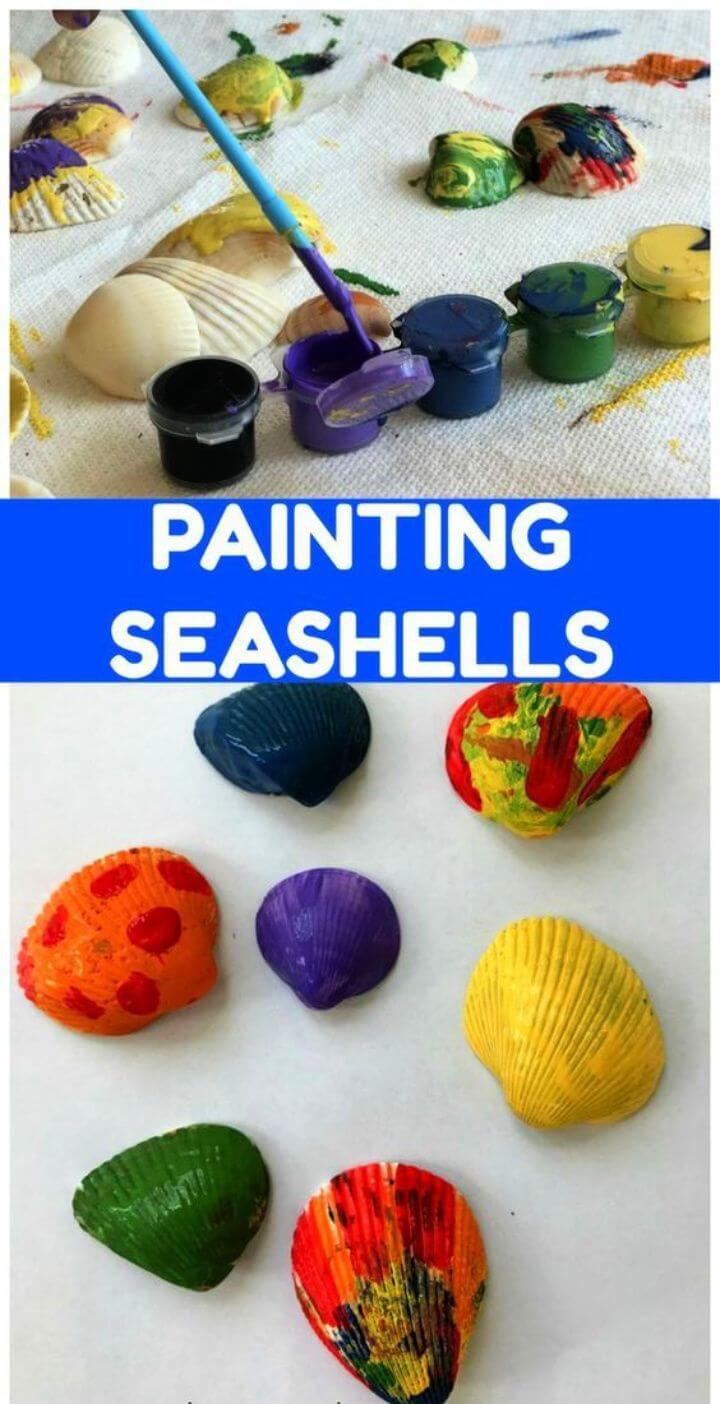 Painting Seashells Art for Kids 1