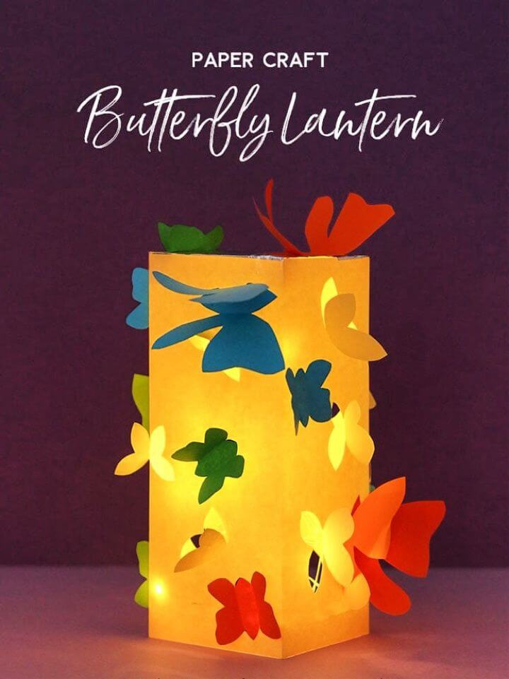 Paper Craft Make A Butterfly Lantern