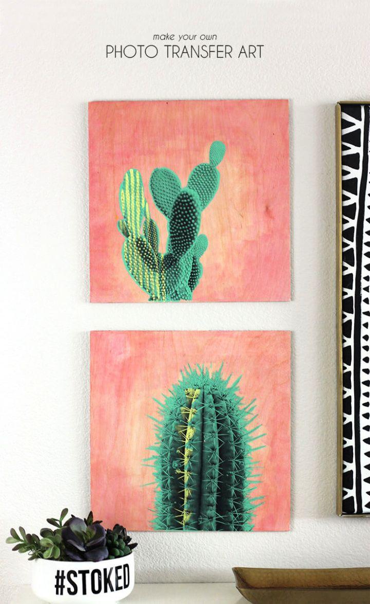 Photo Transfer Cactus Art