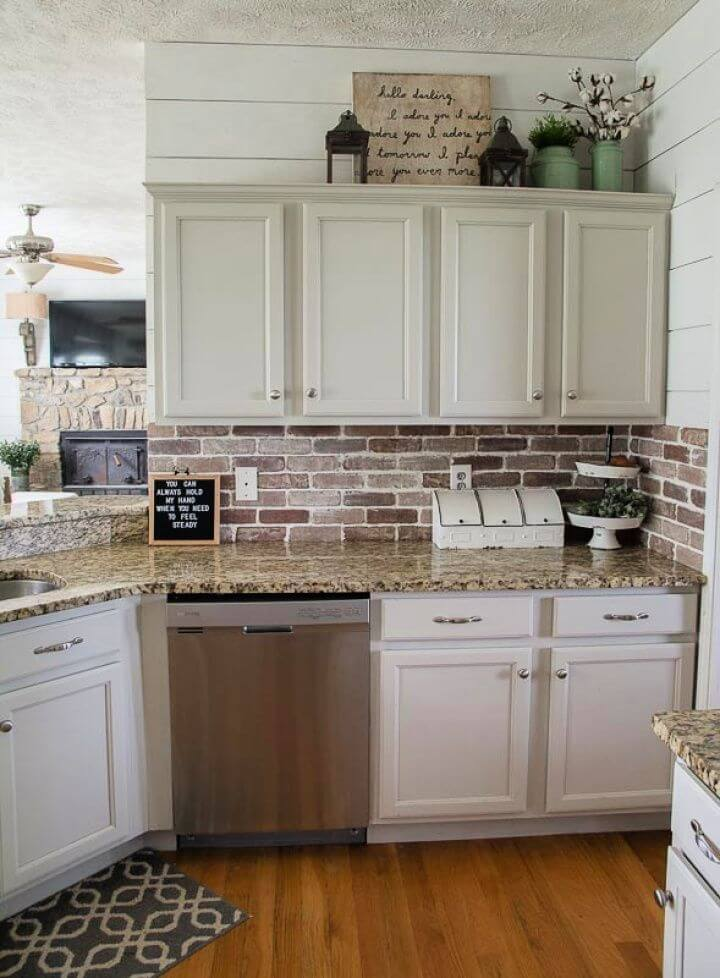 Simple DIY Brick Backsplash Tutorial