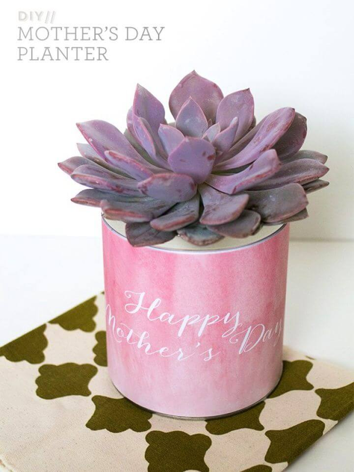 Simple DIY Mother's Day Planter Gift Tutorial