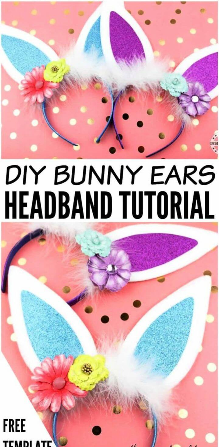 Super Cute DIY Bunny Ears Headband 1