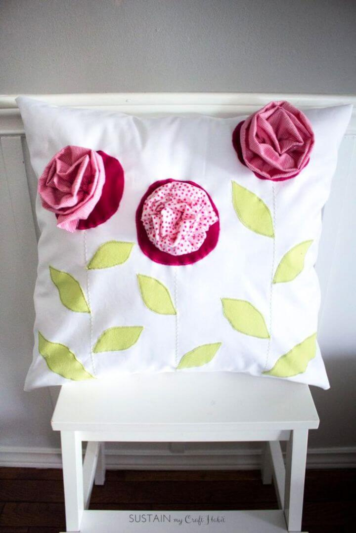 Upcycled Throw Pillow Gift For Mom
