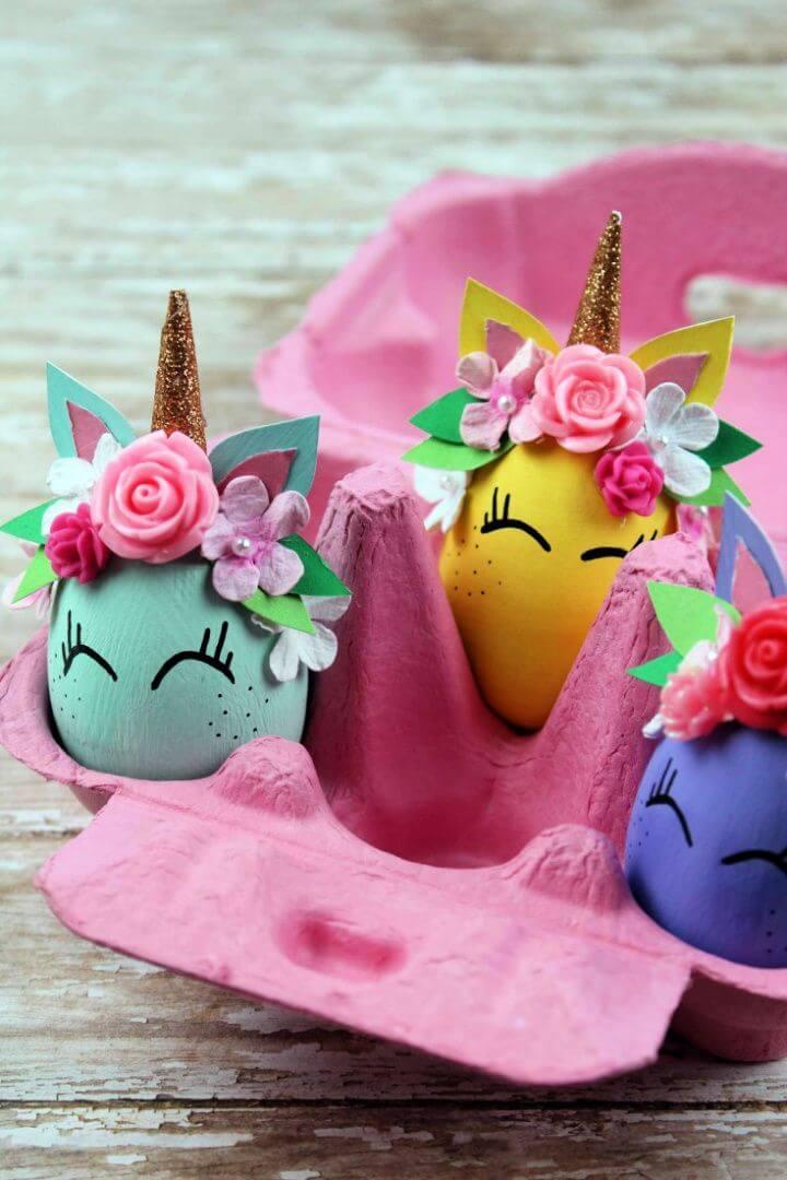 Whimsical Unicorn Egg Craft and Decoration