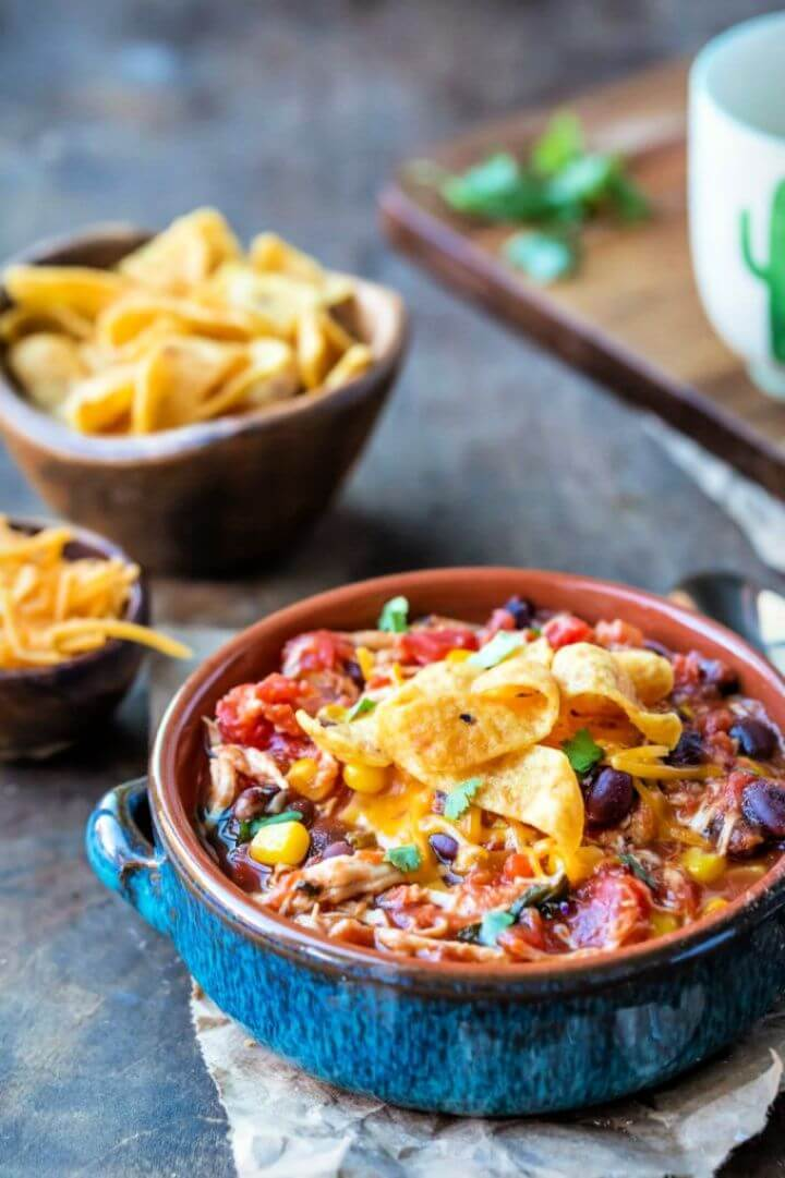 Best DIY Slow Cooker Chicken Frito Chili
