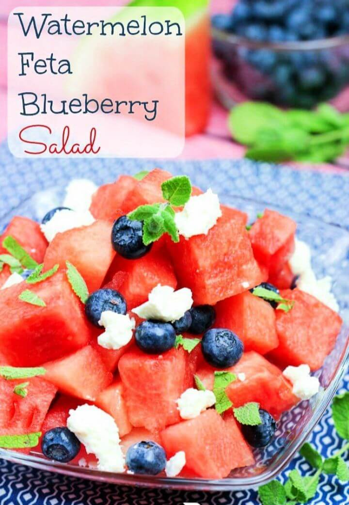 Best Watermelon Feta Blueberry Salad