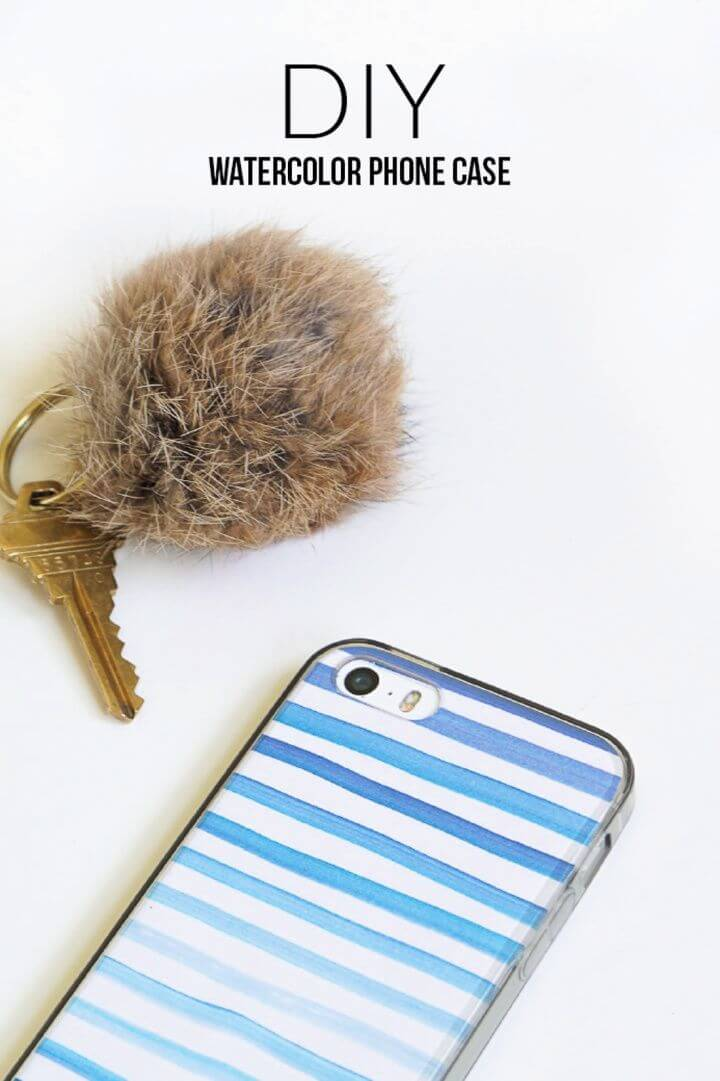 Build A DIY 5 Minute Watercolor Phone Cover Tutorial 1