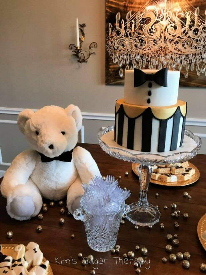 Build A DIY Bow Tie Baby Shower Cake