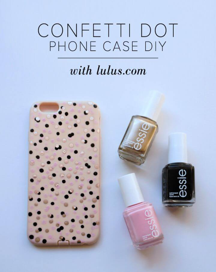 Build Your Own DIY Confetti Dot Phone Cover Top Tutorial 1