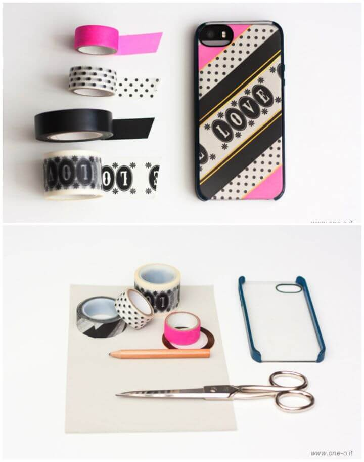"Build Your Own DIY Washi ""Love"" iPhone Cover 1"