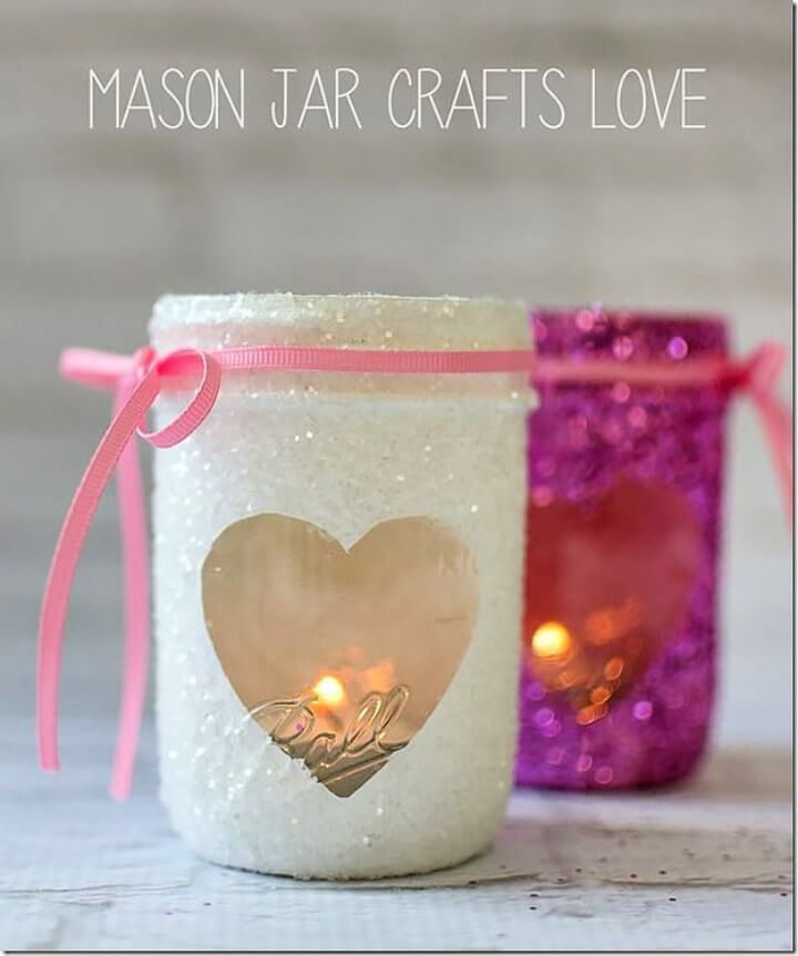 Charming DIY Mason Jar Gifts For Valentines Day
