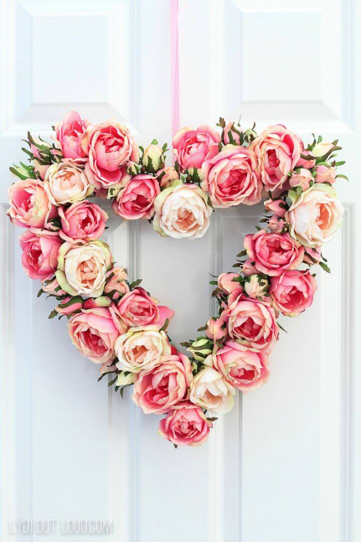 Create A DIY Floral Valentine's Day Wreath