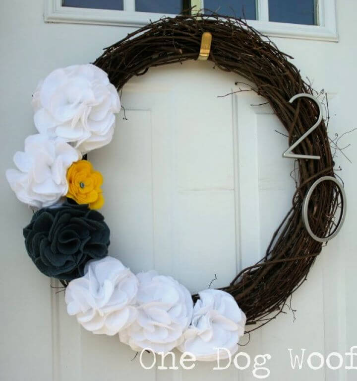 Create A DIY House Number Door Wreath For Spring