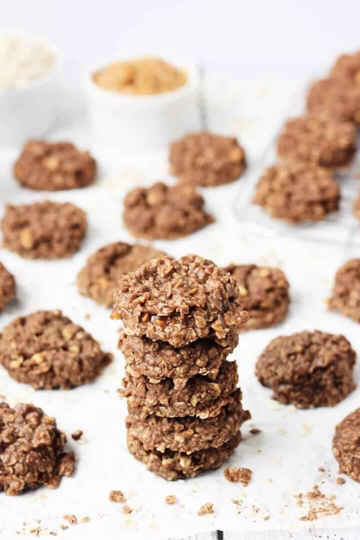 Crunchy Peanut Butter No Bake Cookies