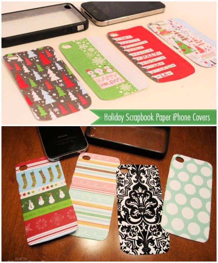 Cute DIY Scrapbook Paper iPhone Covers 1