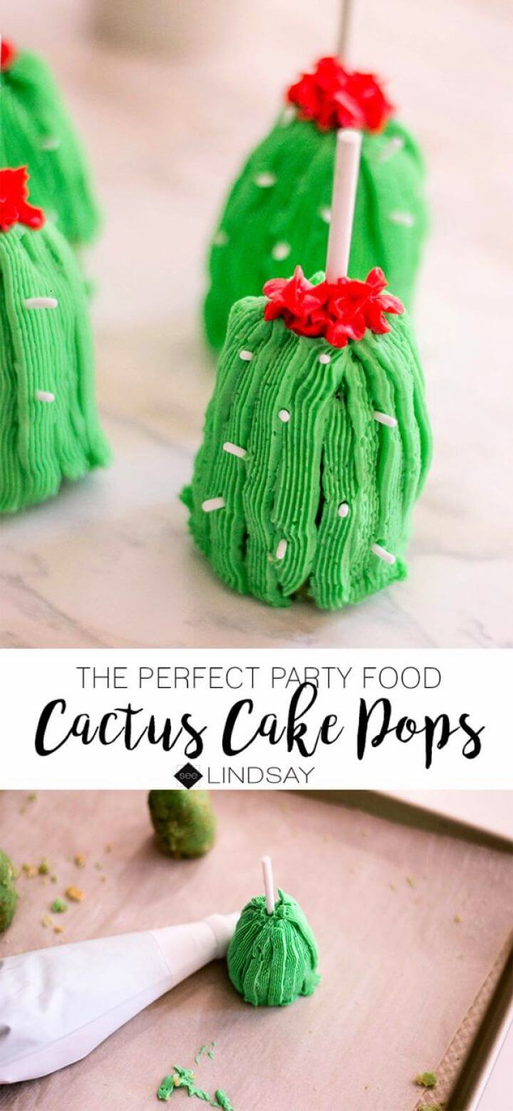 DIY Cactus Cake Pops Recipe For A Perfect Party