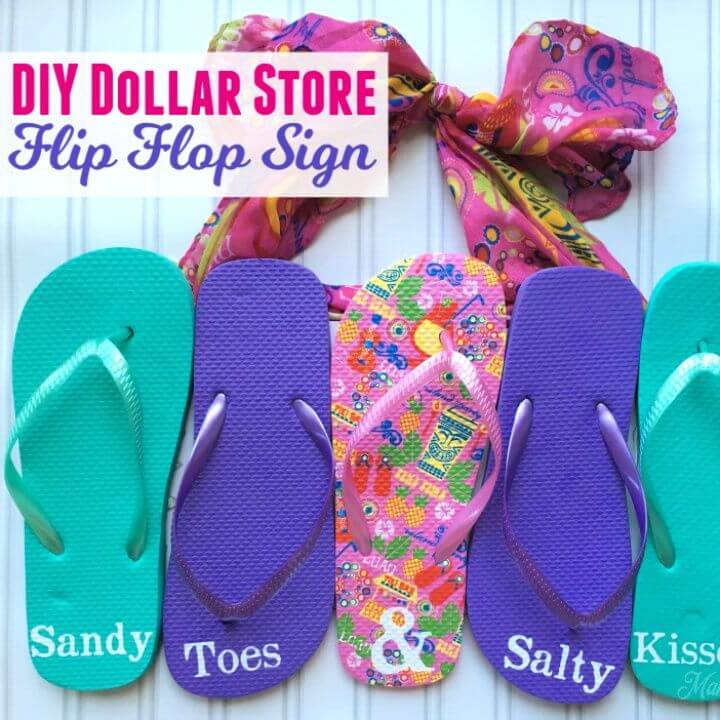 DIY Dollar Store Flip Flop Sign for Summer