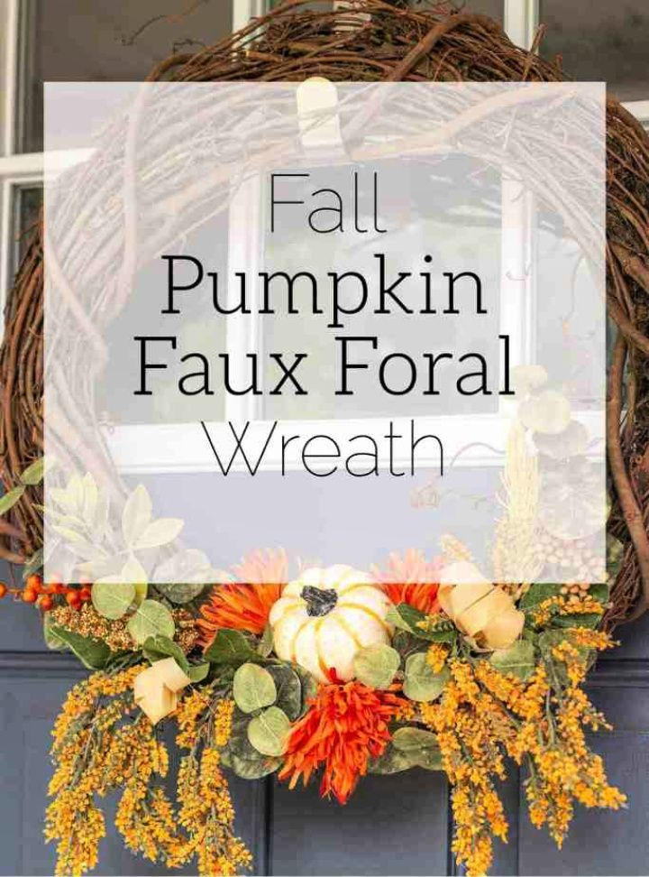 DIY Fall Pumpkin Front Door Wreath