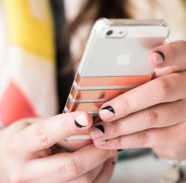 DIY Foil Striped Iphone Case 1