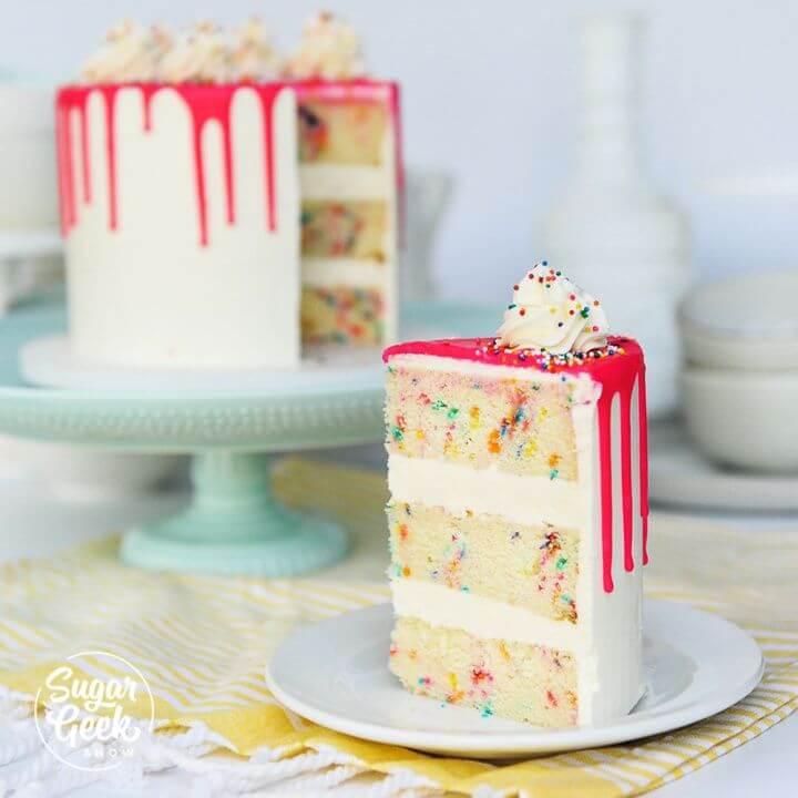 DIY Funfetti Cake From Scratch