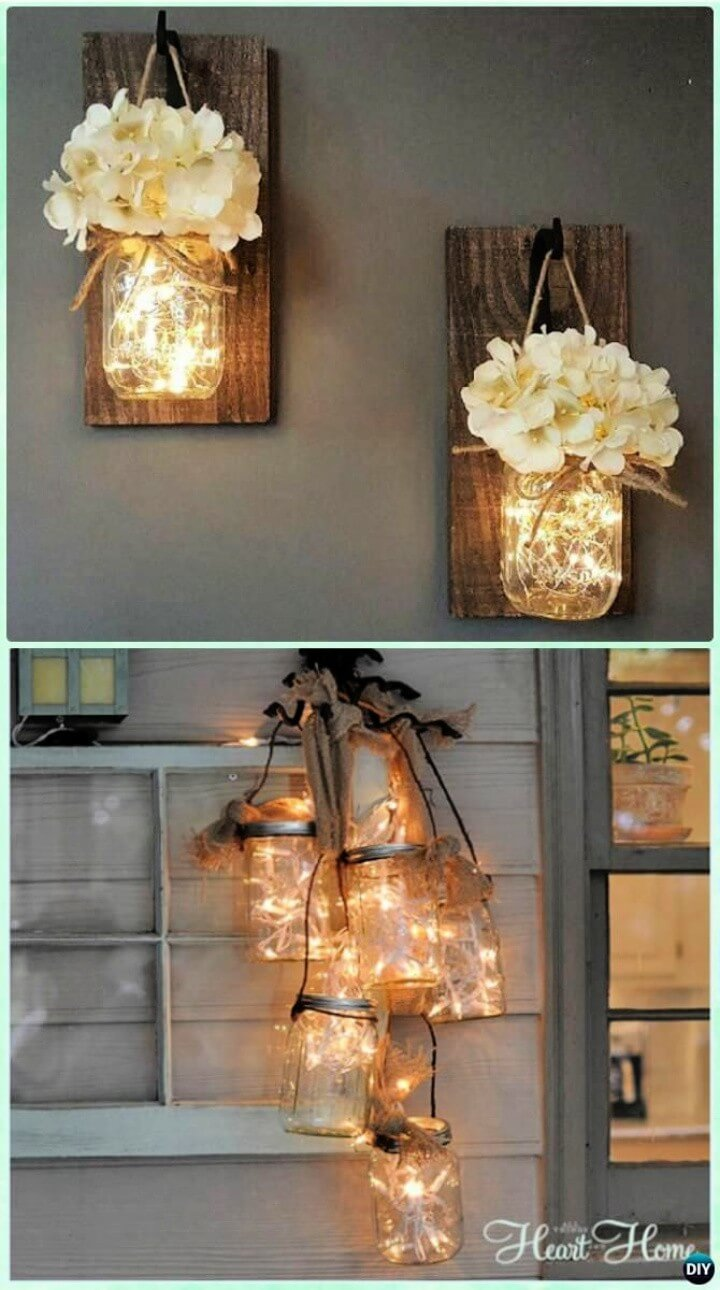 DIY Hanging Mason Jar String Lights Instruction