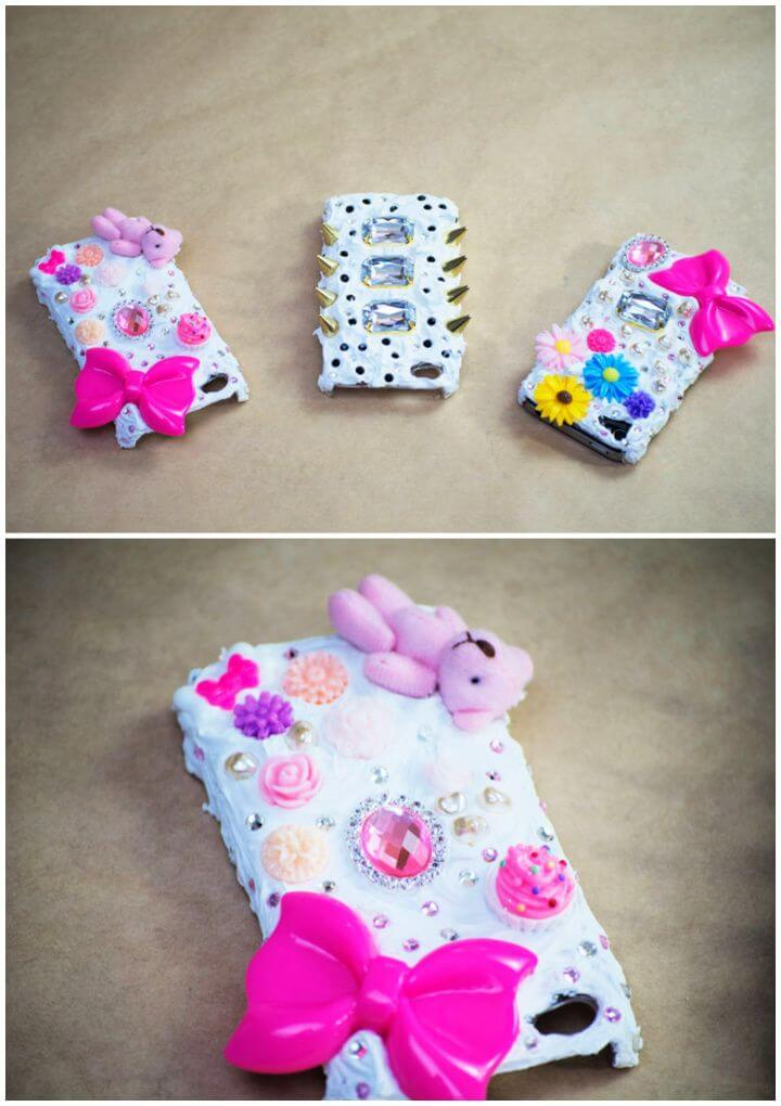DIY Japanese Decoden Embellished Phone Cases 1