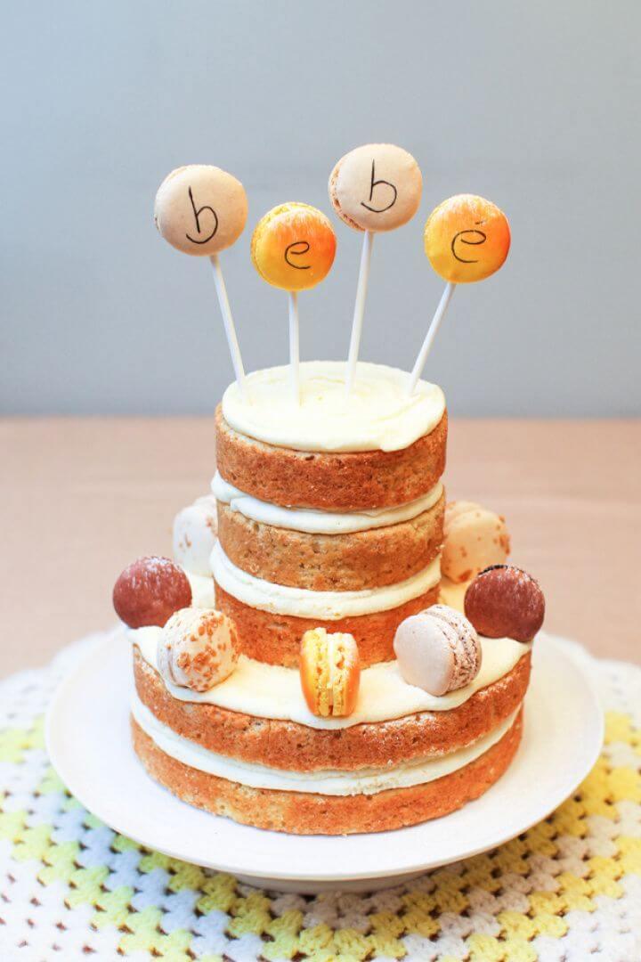 DIY Rustic Lemon Layer Cake For Baby Shower