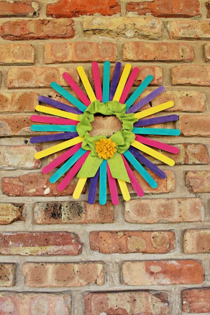 DIY Spring Wreath With Craft Sticks 1000x1499