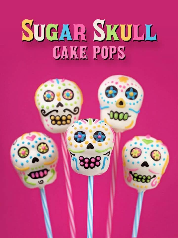 DIY Sugar Skull Cake Pops