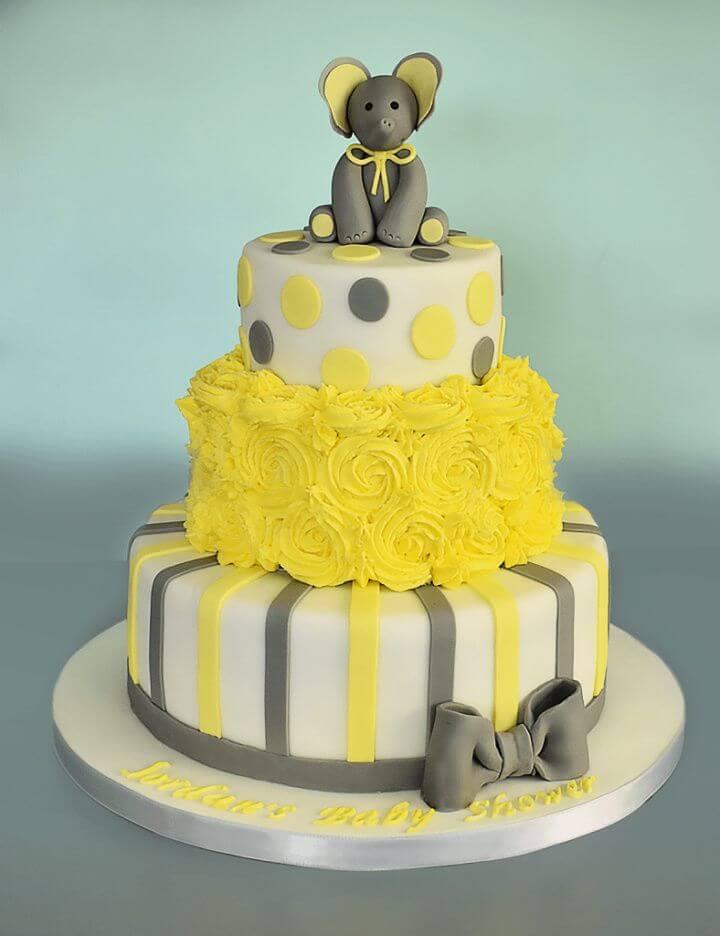 DIY Three Tier Baby Shower Cake