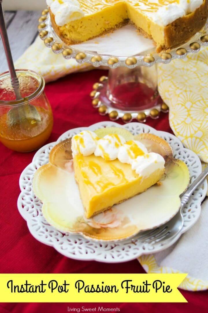 Decadent Instant Pot Passion Fruit Pie