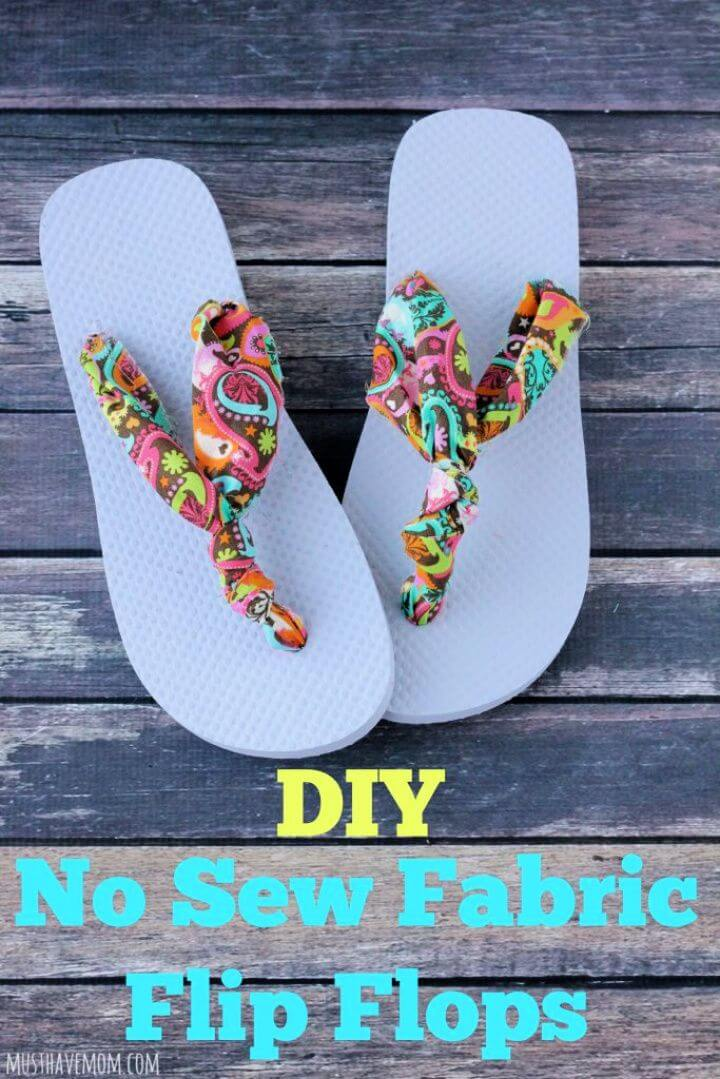 Easiest Ever DIY No Sew Fabric Flip Flops