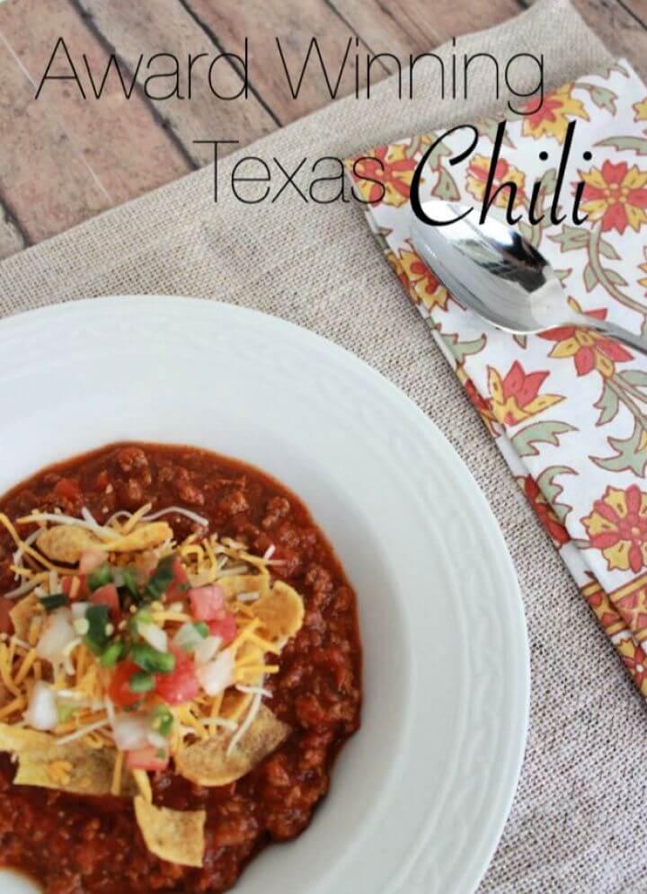 Easy DIY Award Winning Texas Chili