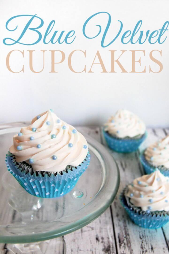 Easy DIY Blue Velvet Cupcakes