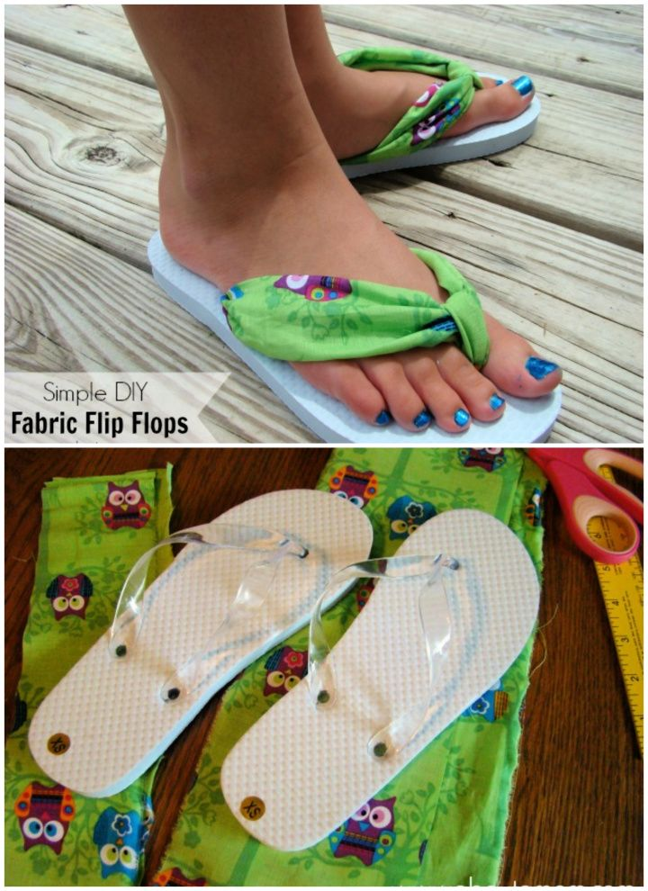 Easy DIY Fabric Flip Flops