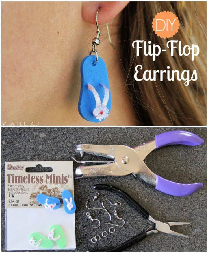 Easy DIY Flip Flop Earrings